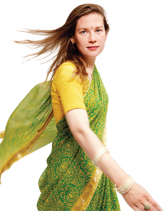 Anja Ploetz in sari