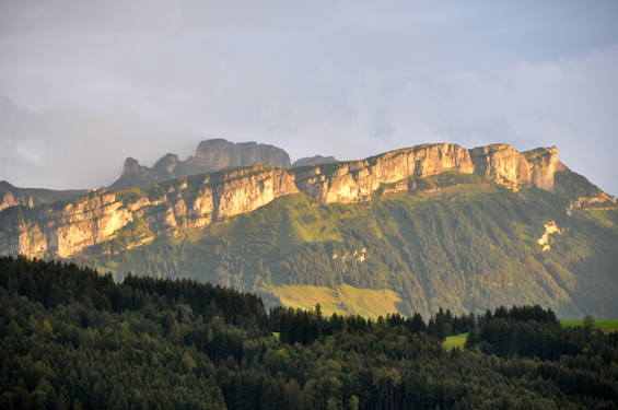 Evening sun on the Alpstein
