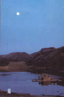 Krishnamurti Lake by moon light - Yogena