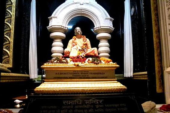 Srila Prabhupada's samadhi, Vrindavan