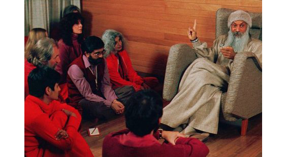Osho giving discourse in Lao Tzu to