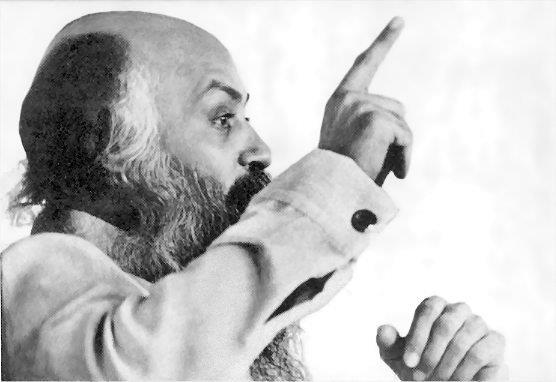 Osho pointing his finger
