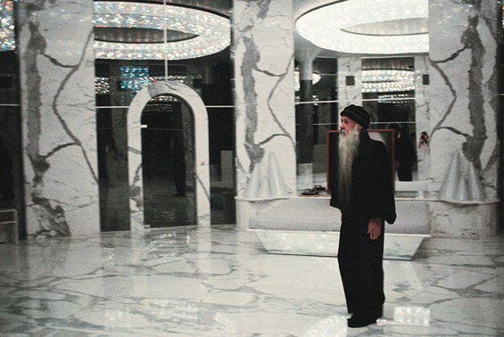 Osho in his bedroom