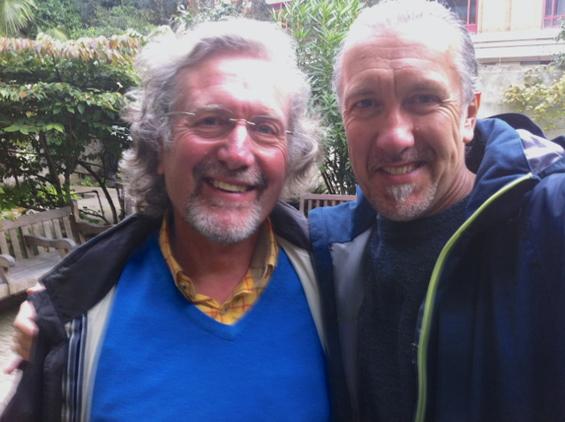 Me and Joff reunite in London