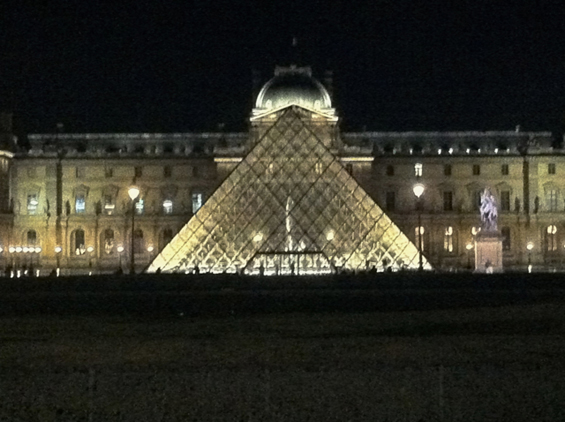 The glass pyramid defines the Louvre, Paris