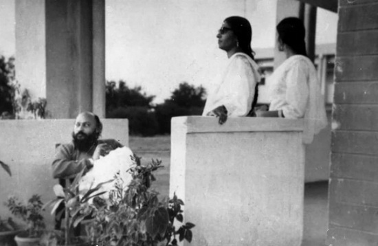 Osho with two friends