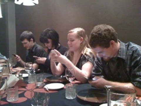 Getting together in a restaurant