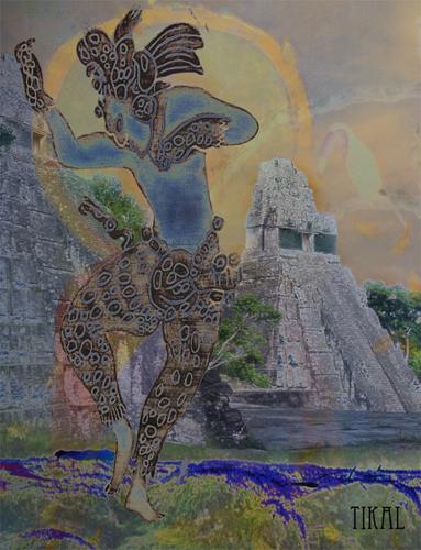 Tikal Dancer (Maya dancer): digital art made from photographs I have taken