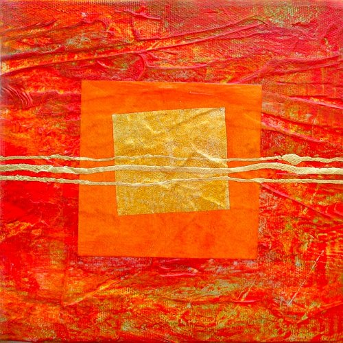 red gold square
