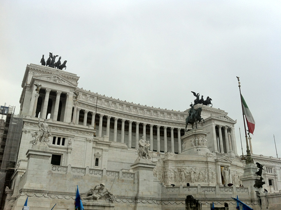 Piazza Venezia in all its pompous glory