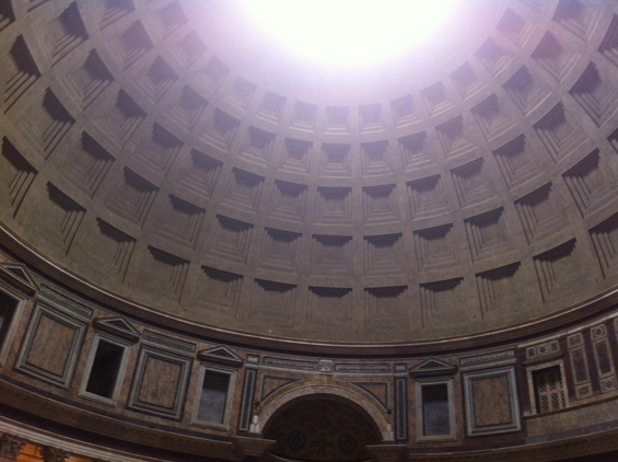 The oculus shedding it's glorious light in the Pantheon