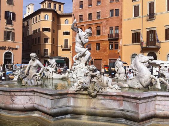 La Fontana dei Quattro Fiumi in Piazza Navona