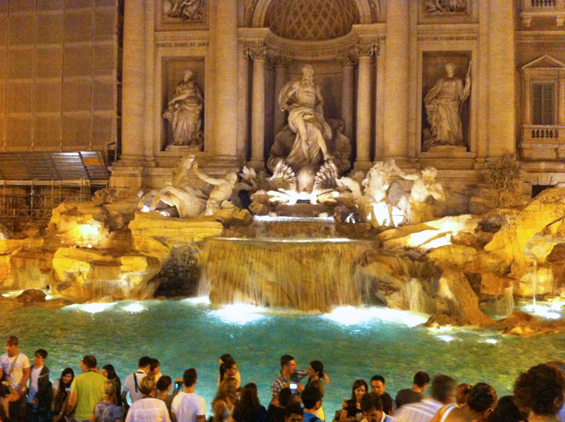Celebrating the joy of Trevi fountain