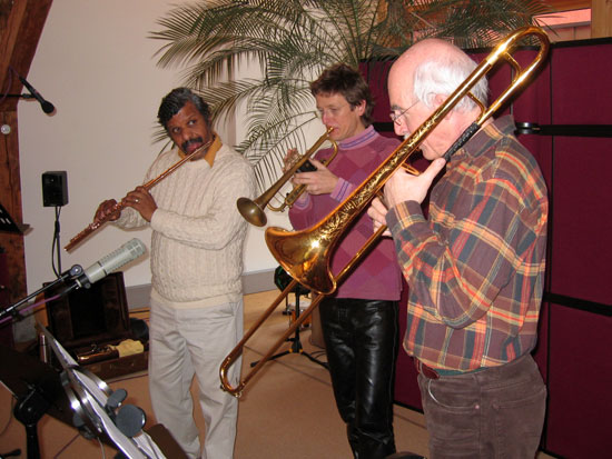 Lotus Paradise recording sessions in Zurich 2006