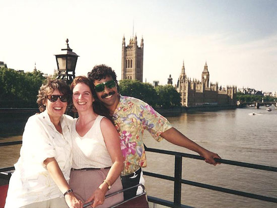 Vedam with Majuda and Punya in London