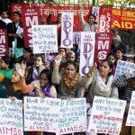 demostrantion against gang rape on bus