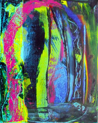Behind the Veil, 2012, acrylics on canvas