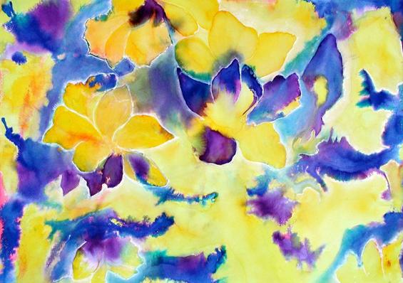 Lilies, 2002, watercolour