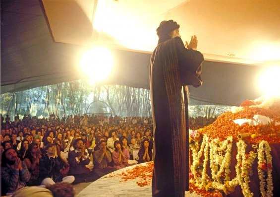 Osho in Buddha Hall