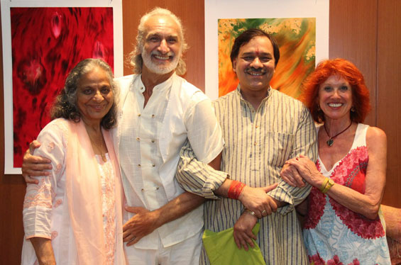Galleria event paintings by Magno, humourist poet Rakesh Soni