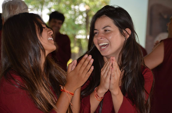 Laughter workshop at Oshodham with Mudita and Magno