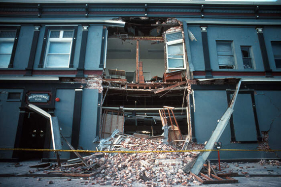Loma Prieta, California, Earthquake October 17, 1989. Santa Cruz