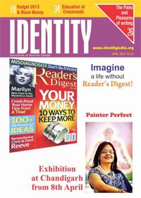 Pratiksha in IDENTITY April 2013