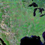 satellite image of USA