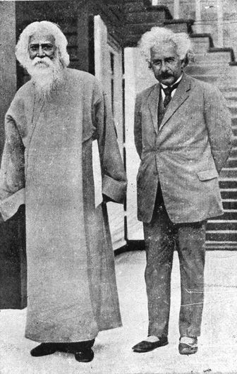 Rabindranath Tagore with Albert Einstein