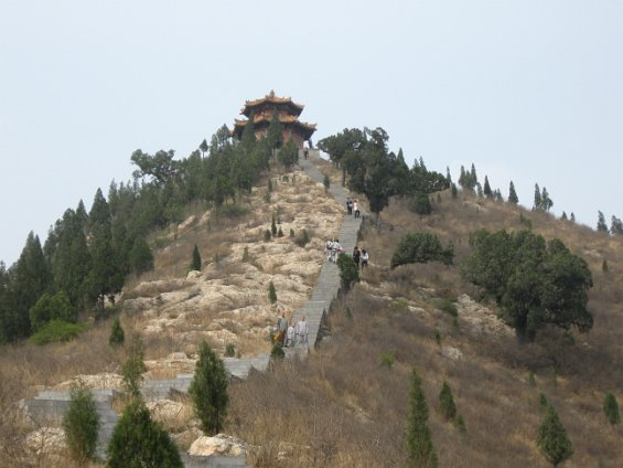 climbing up to the shrine