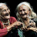 Old ladies laughing