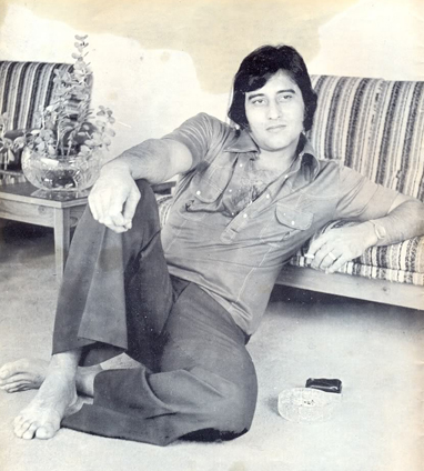Vinod Khanna as young actor
