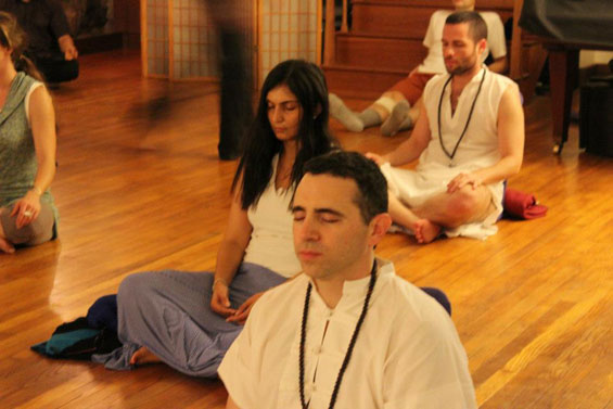 evening meditation organized by Osho Padma 2012