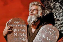 ten commandments held by Charlton Heston