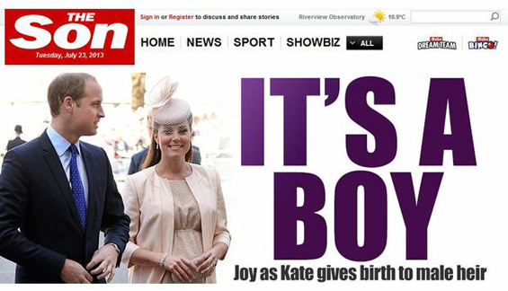 The Son - it's a boy!