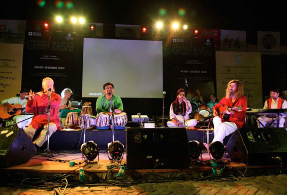 in New Delhi with the Green Ragas band