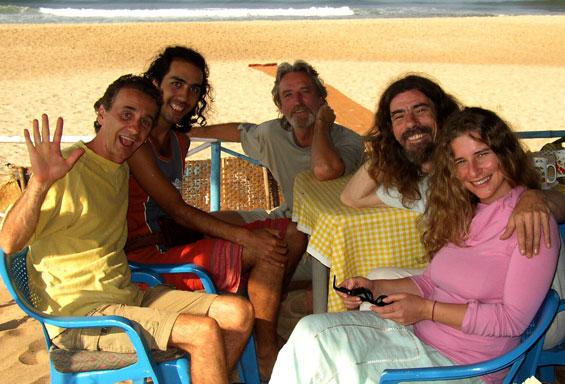 with Shastro, Zeuben, Palash and Naveena, Goa