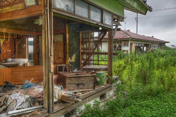 houses in abandoned danger zone