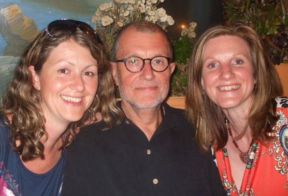 with daughters Laura and Amelia