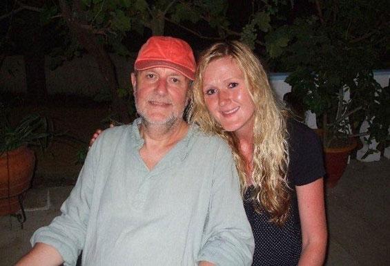 Rajen with Rachel, also in Corfu