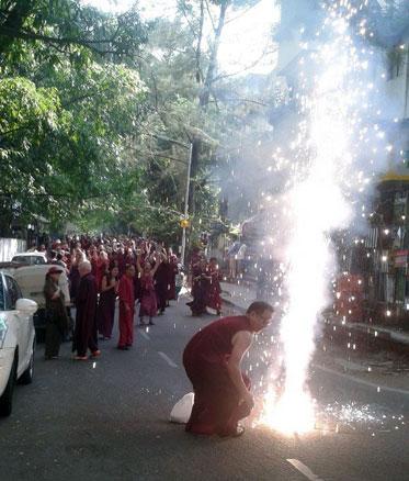 firecrackers for Krishna Ma