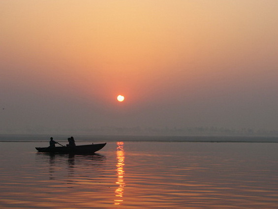 Partial eclipse Varanasi