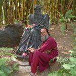 Vedant Satyarthi at Buddha statue