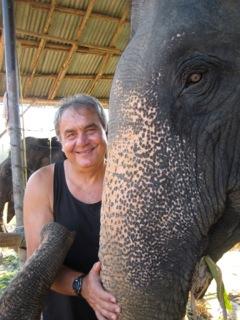 Yuri with elephant