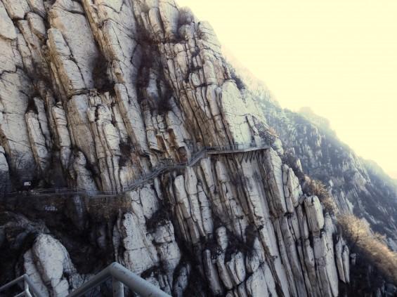 Up the mountain on the vertigo-inducing walk