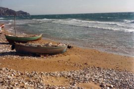 Fishing boats on Arillas beach