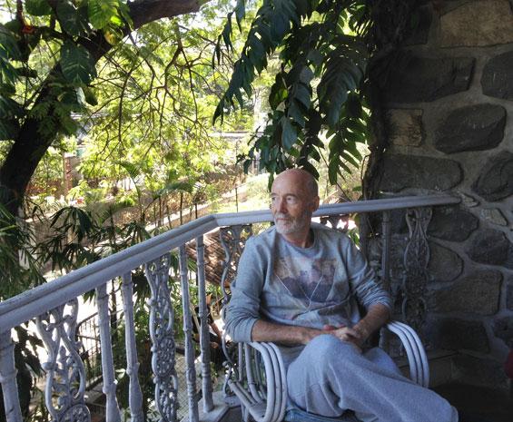 Subhuti on the balcony