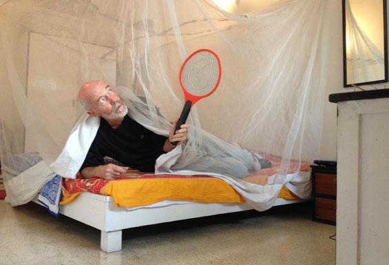 Subhuti and his mosquito racket