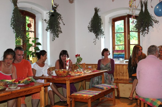 Dining room for group participants and guests