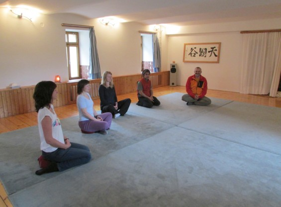 Meditation and group room in Shangri La house